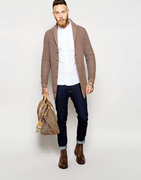 Джинсовые брюки синего цвета