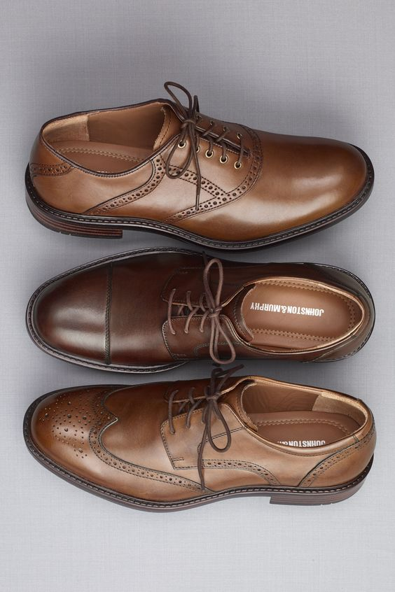 Туфли мужские коричневого цвета