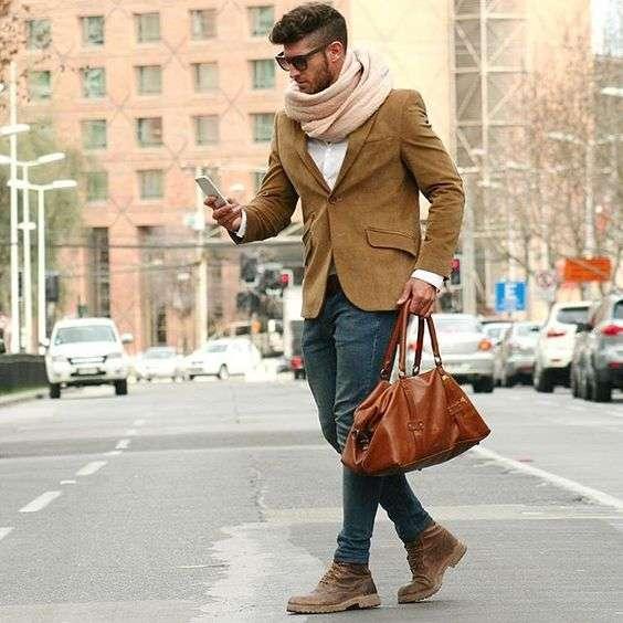Ботинки коричневого цвета