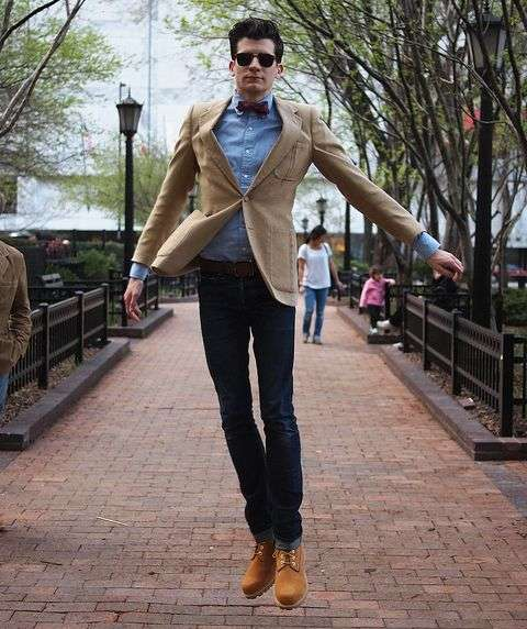 Желтые ботинки мужские