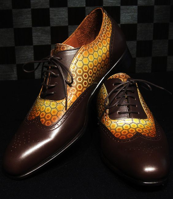 Комбинированные кожаные туфли