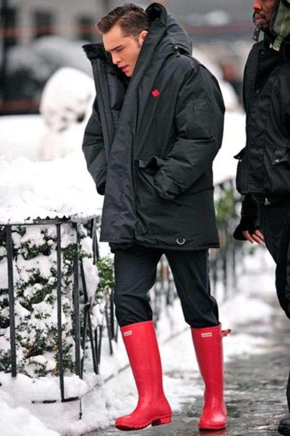Модные мужские резиновые сапоги