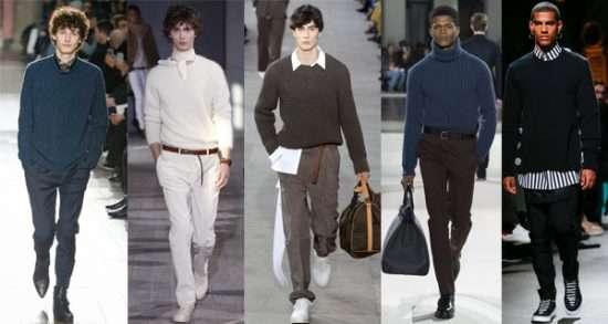 Однотонные мужские свитера