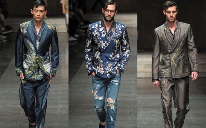 Брюки мужские с вышивкой