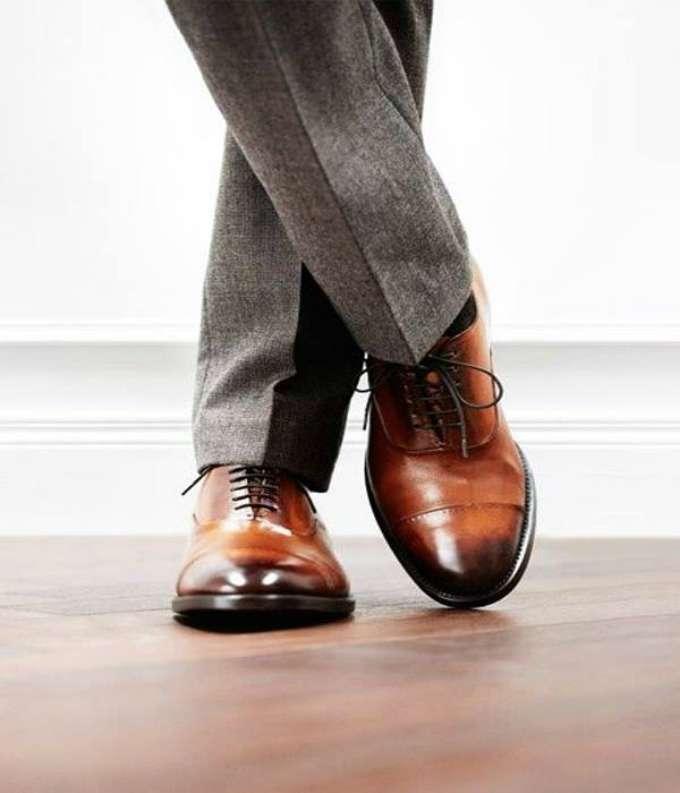 Туфли двухцветные