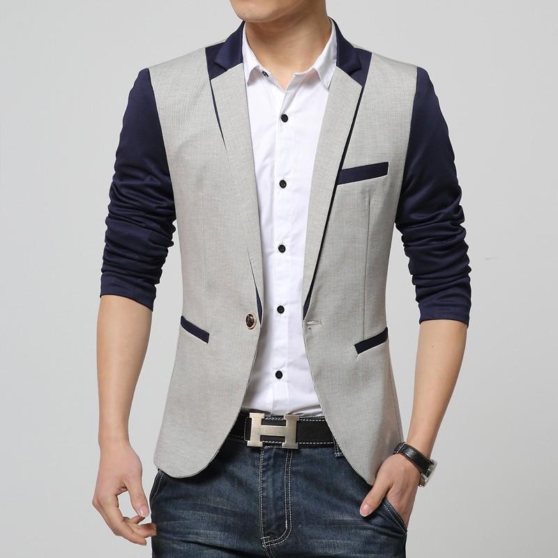 Пиджак с контрастными вставками