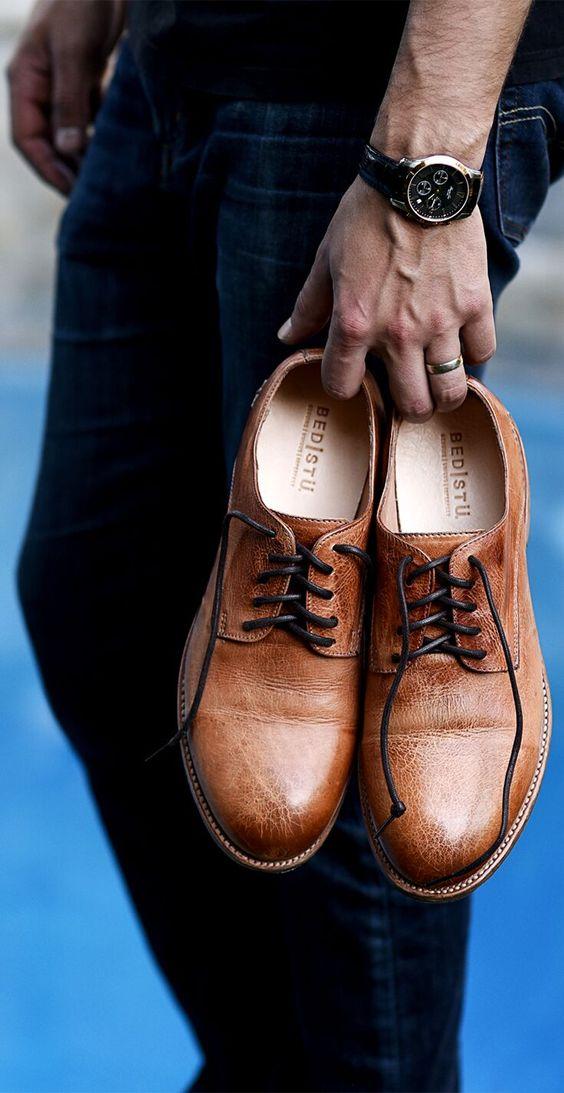 Осенние мужские туфли
