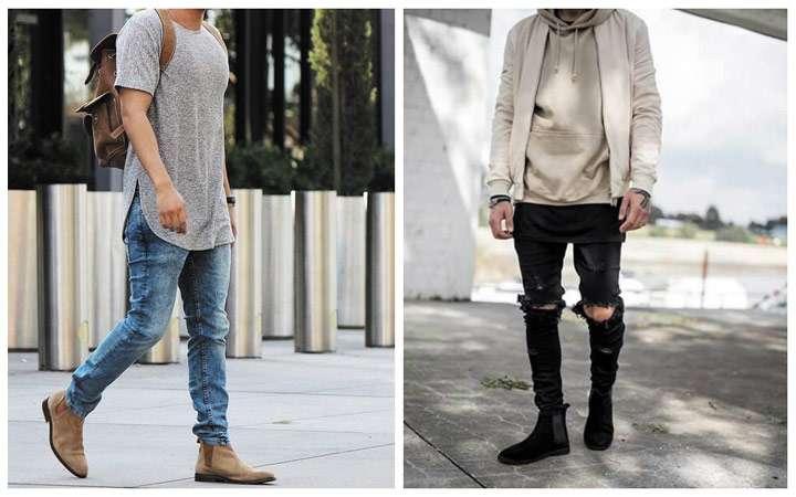 Мужские ботинки с острым ретро-носком