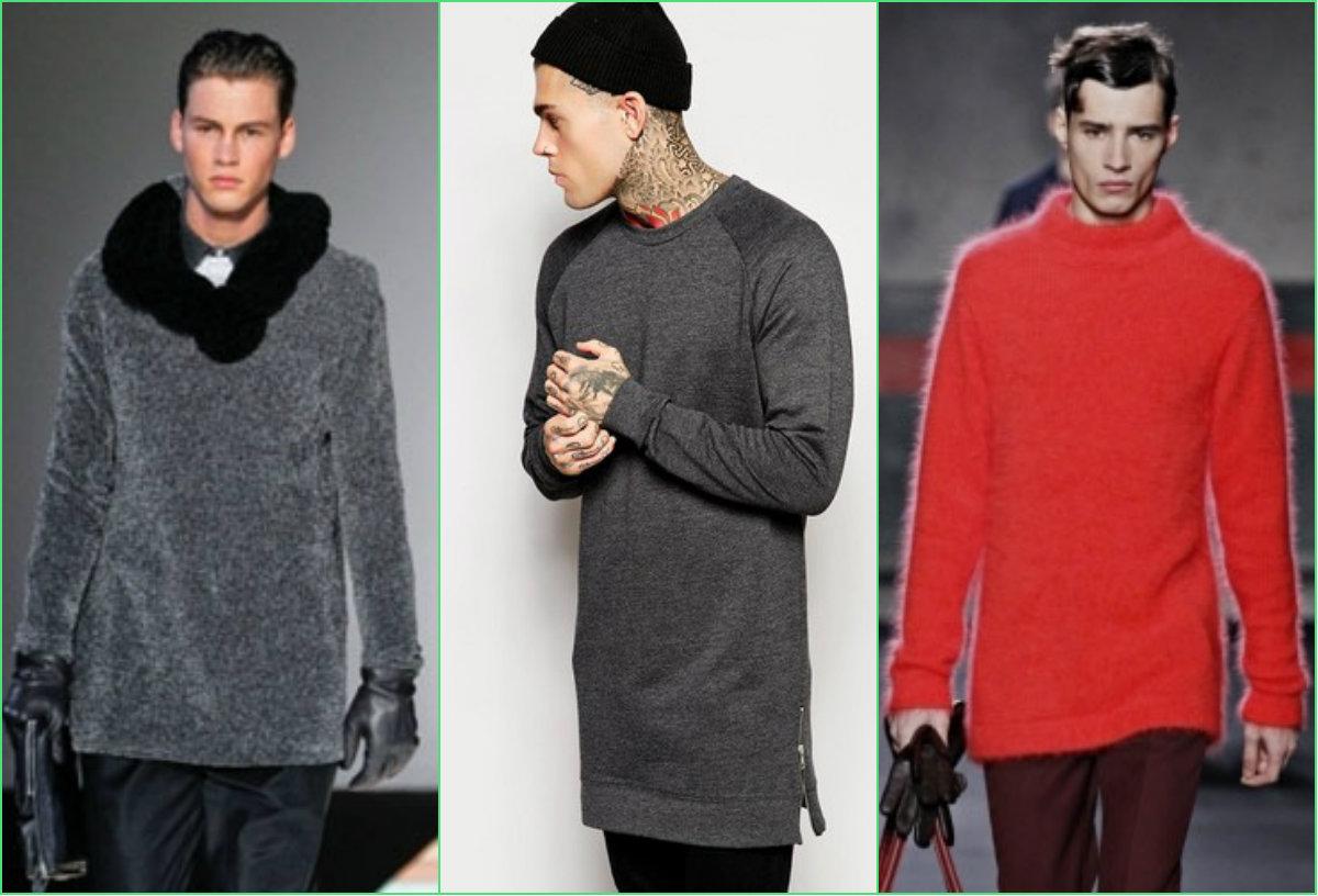 Удлиненные свитера для мужчин