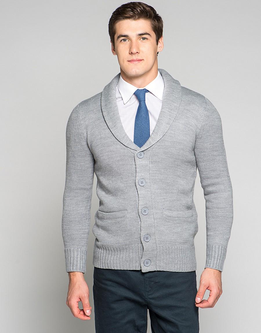 Кардиган и рубашка с галстуком