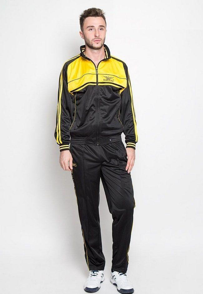 Желто-серый спортивный костюм