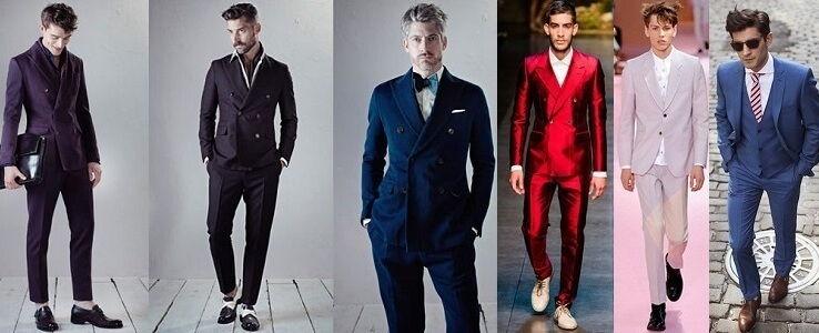 Разнообразие цветов мужских костюмов