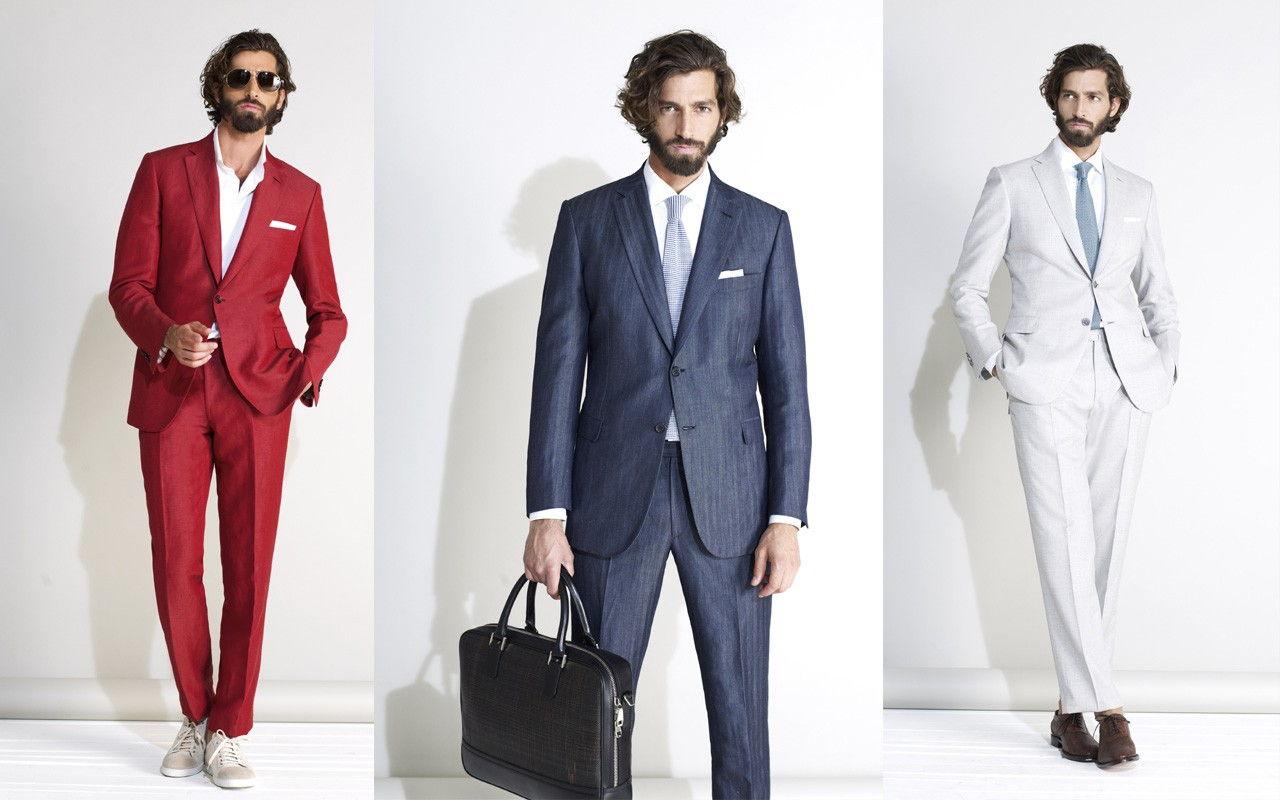 Разные цвета мужских костюмов осень-зима 2018 -2019