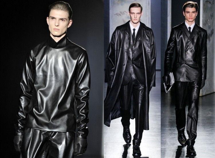 Кожаные костюмы мужские