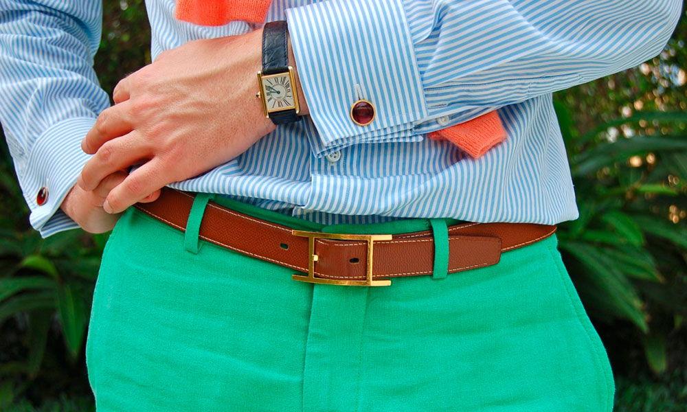 Сочетание одежды и цвета пояса