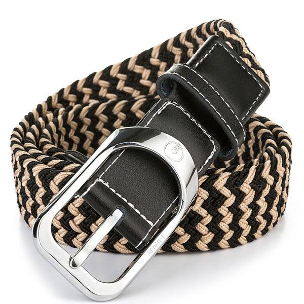 Плетеный ремень для мужских брюк