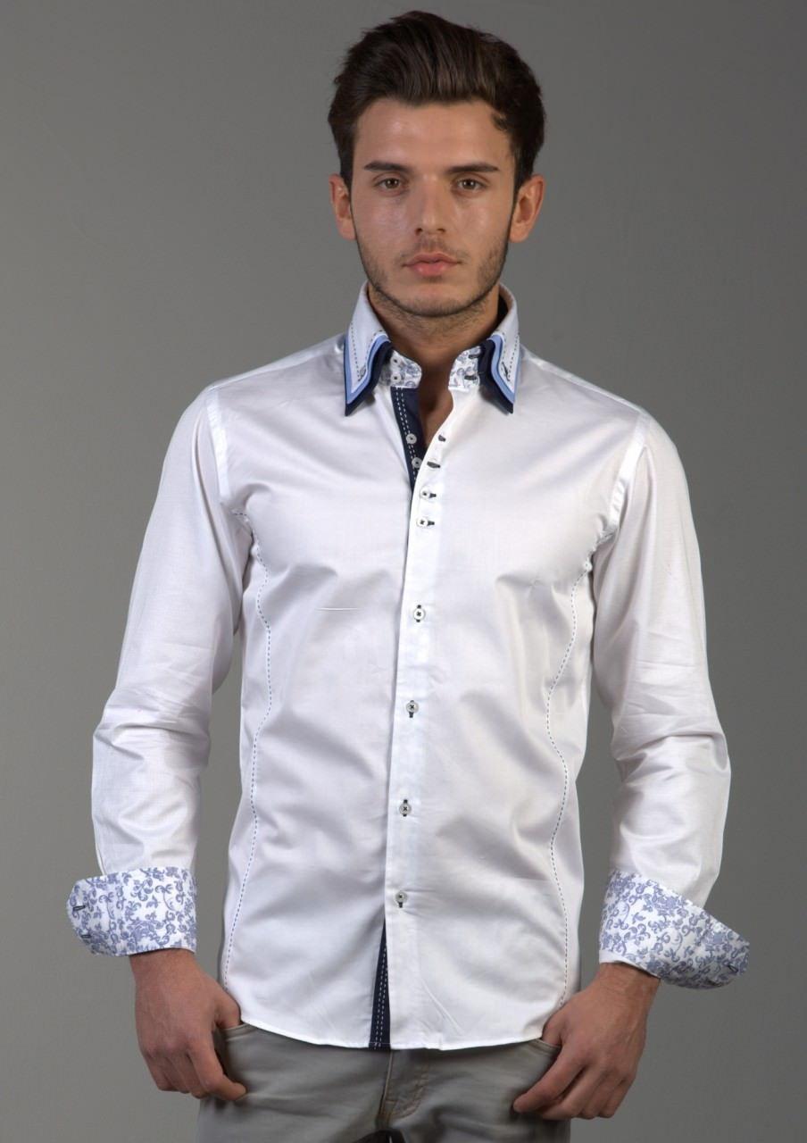 Белая рубашка красивая