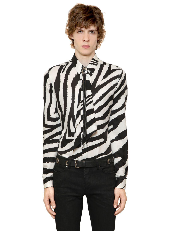 """Рубашка с рисунком""""зебра"""""""