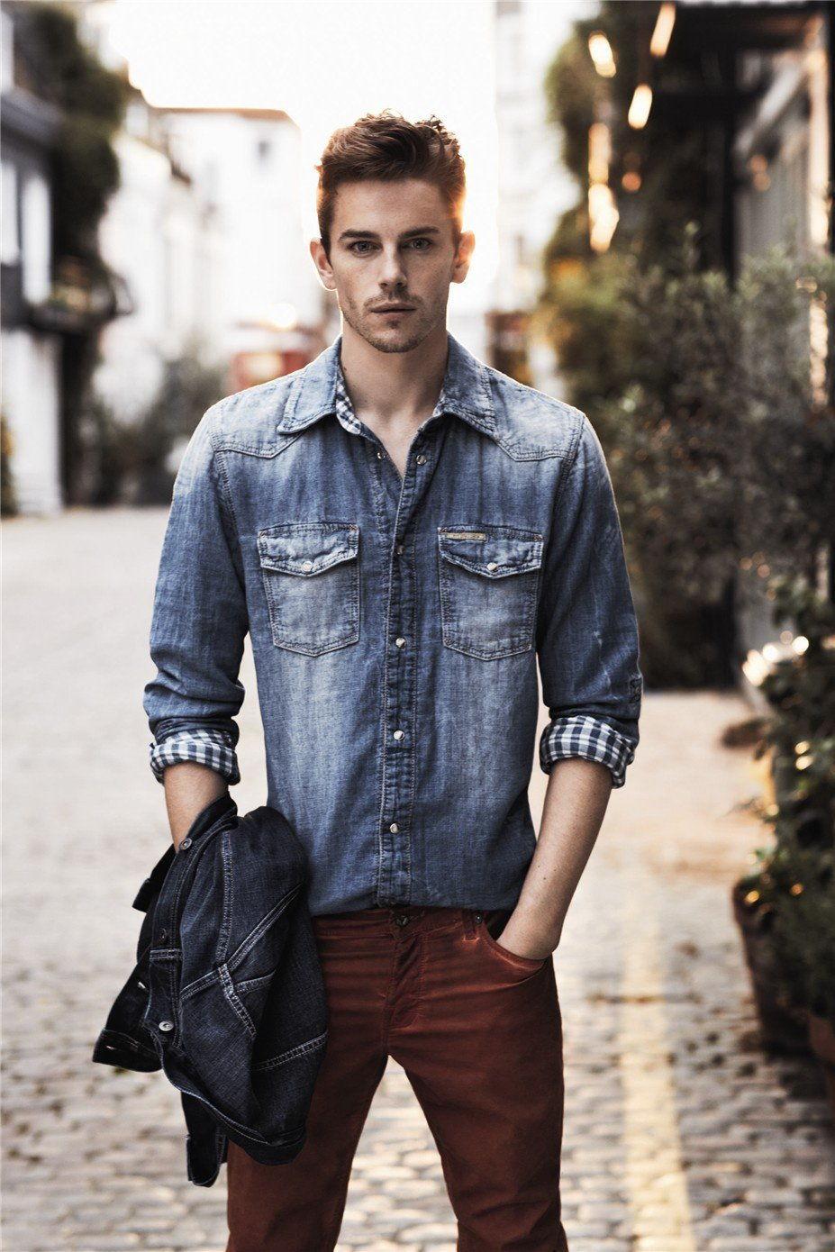 Рубашка из джинса