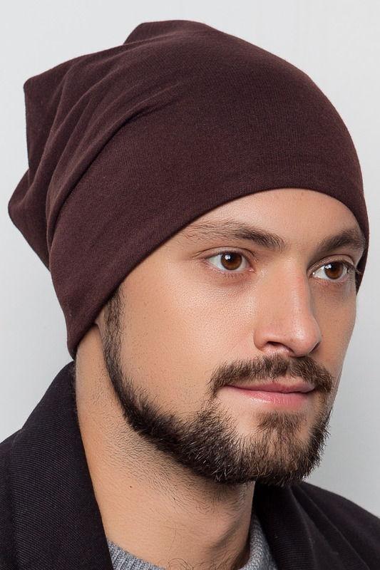 Трикотажная шапка коричневого цвета