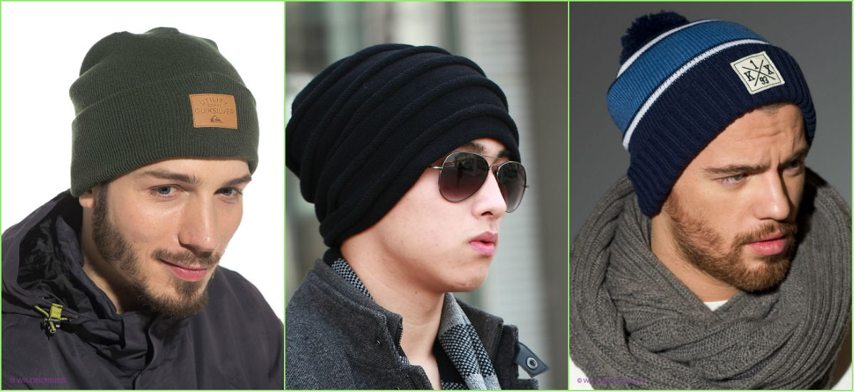 Разнообразие цветов мужских шапок