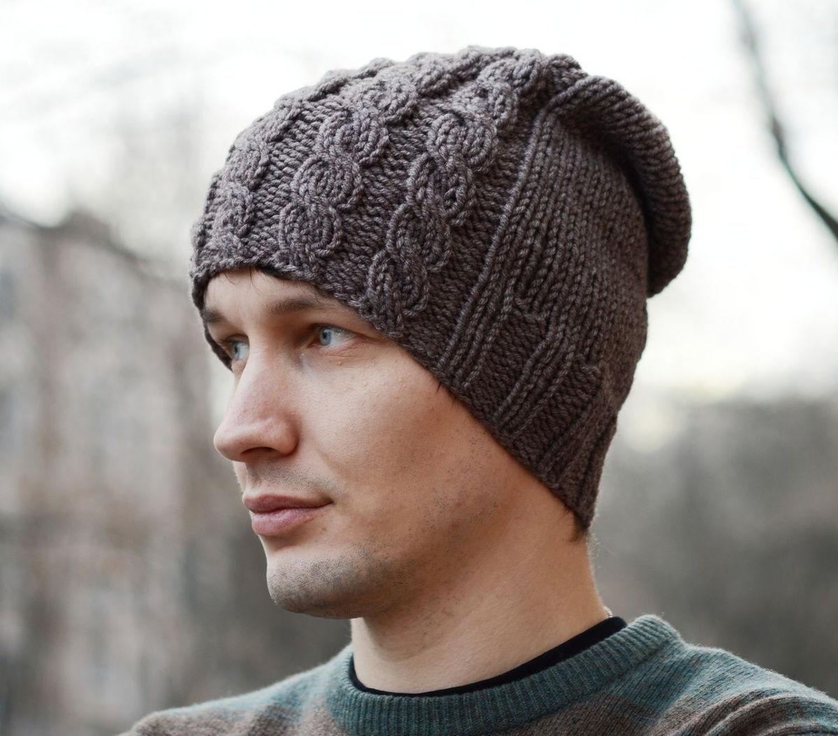"""Мужская шапка с """"косами"""""""