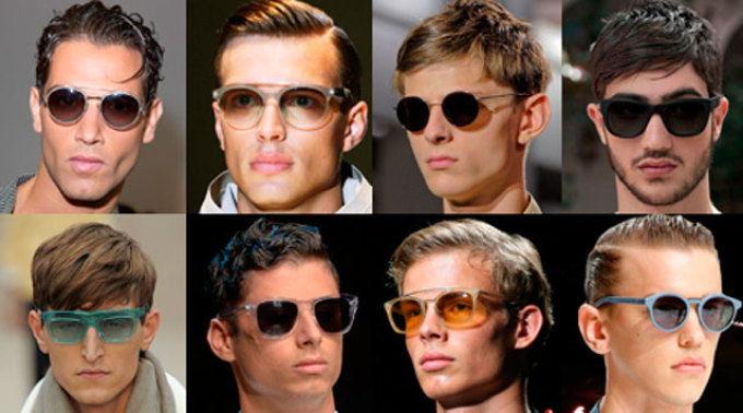 модные формы очков от солнца