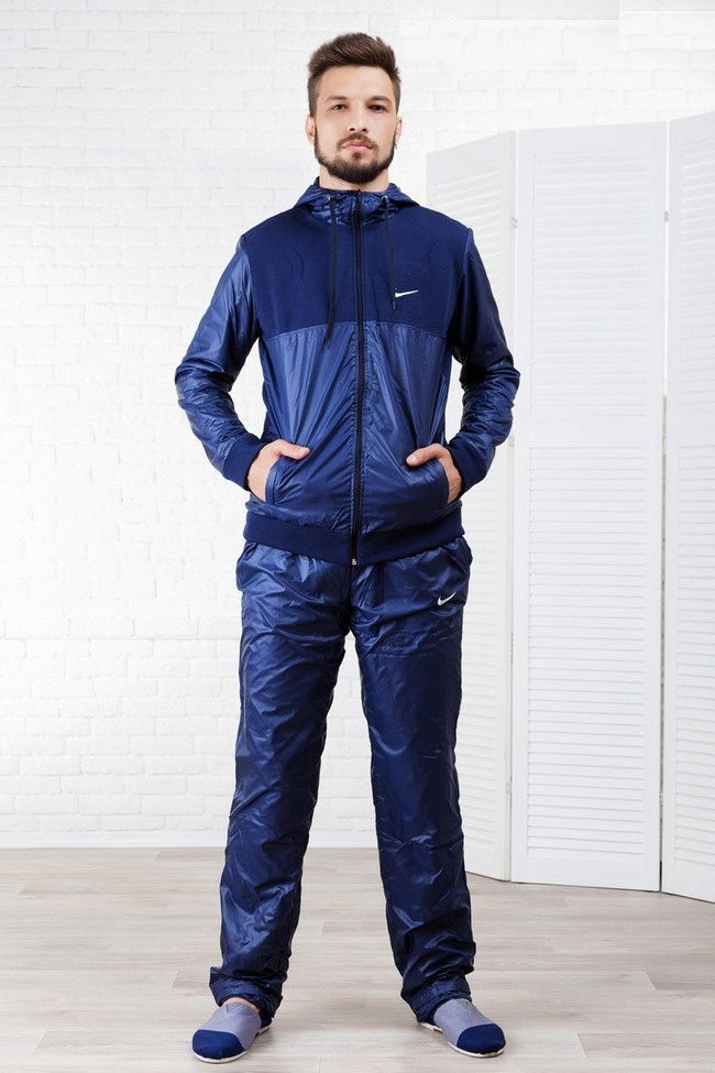 Синий зимний спортивный костюм