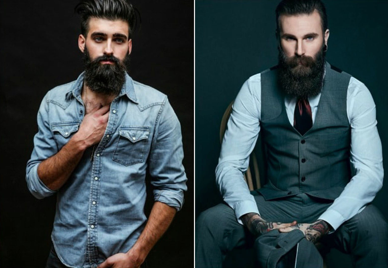 Стиль в одежде и борода