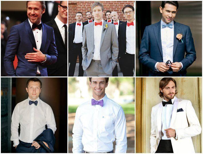 Интересные варианты галстуков под костюм