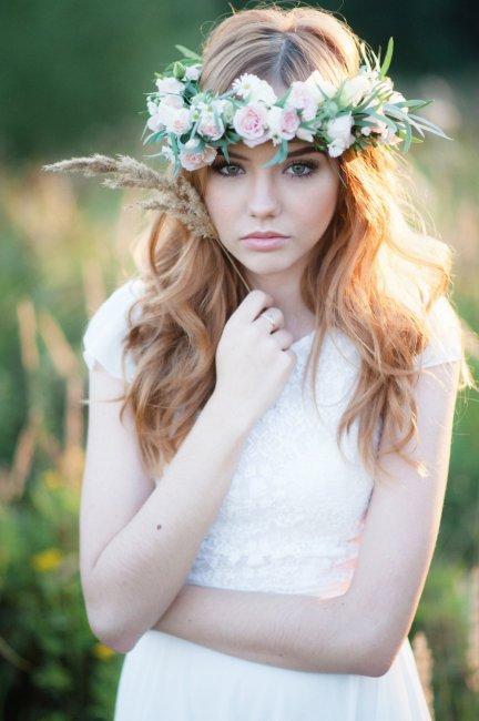 Рустикальный макияж для невесты