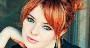 Обольстительный макияж для рыжеволосой зеленоглазой девушки