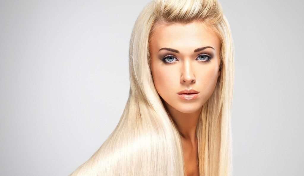 Макияж для длиноволосой блондинки