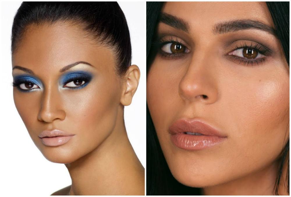 Разный макияж для карих глаз