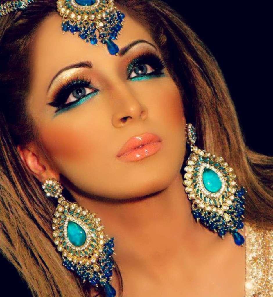 Восточный макияж для зеленоглазых девушек