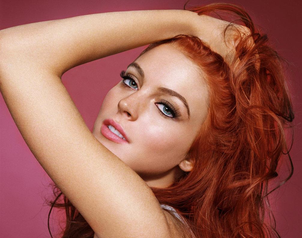 Не яркие брови и рыжие волосы