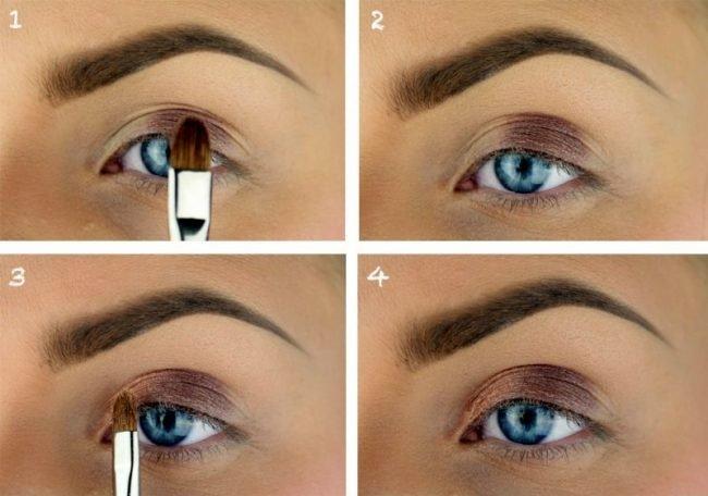 Нанесение мэйка для голубых глаз
