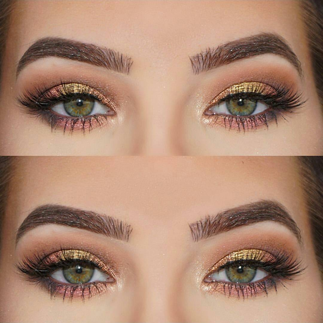 Легкий макияж для зеленых глаз