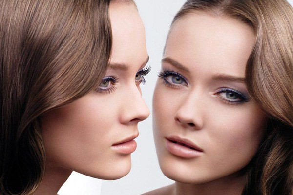 Нежный макияж для шатенки