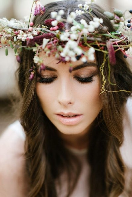 Стиль бохо в свадебном макияже