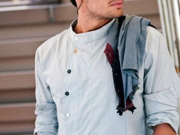 Модные мужские рубашки круглым воротом весна-лето 2019