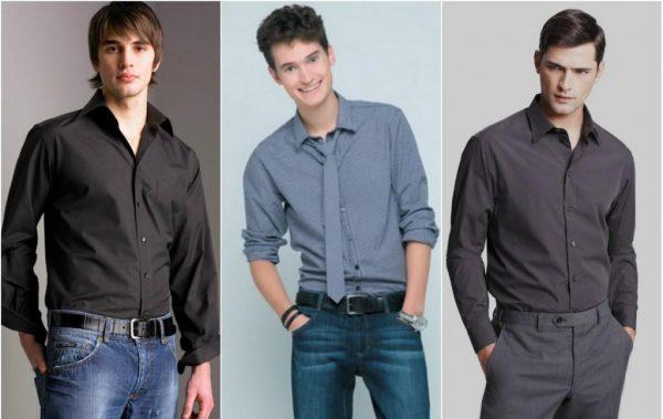 Модные серые мужские  рубашки весна-лето 2019