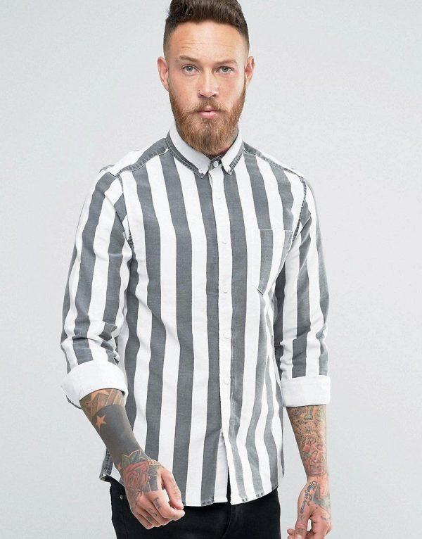 Модные мужские рубашки в полоску весна-лето 2019